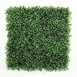 ULAND 12 Piece Artificial Boxwood Decorative Fence Faux, Ivy Leaf Hedge Privacy Panel Cover Windscreen Patio, 20'' L x 20'' W