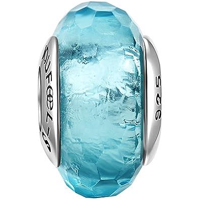 7d4128a2e9f1 SOUFEEL Charm Abalorio Plata de Ley Cristal de Murano Lágrima de Mar para  Pulsera Regalo para Familia Mujer en Anivesario o Cumpleaños  Amazon.es   Joyería