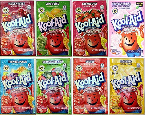 Kool-Aid Drink Mix, 8 Flavors Variety Pack, 48 Packets (Aid Flavor)