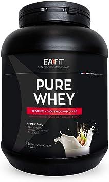 EAFIT Pure Whey - Vainilla y avellana 750 g - Crecimiento muscular - proteínas tri-fuentes de whey - Asimilación rápida - Contiene aminoácidos y ...