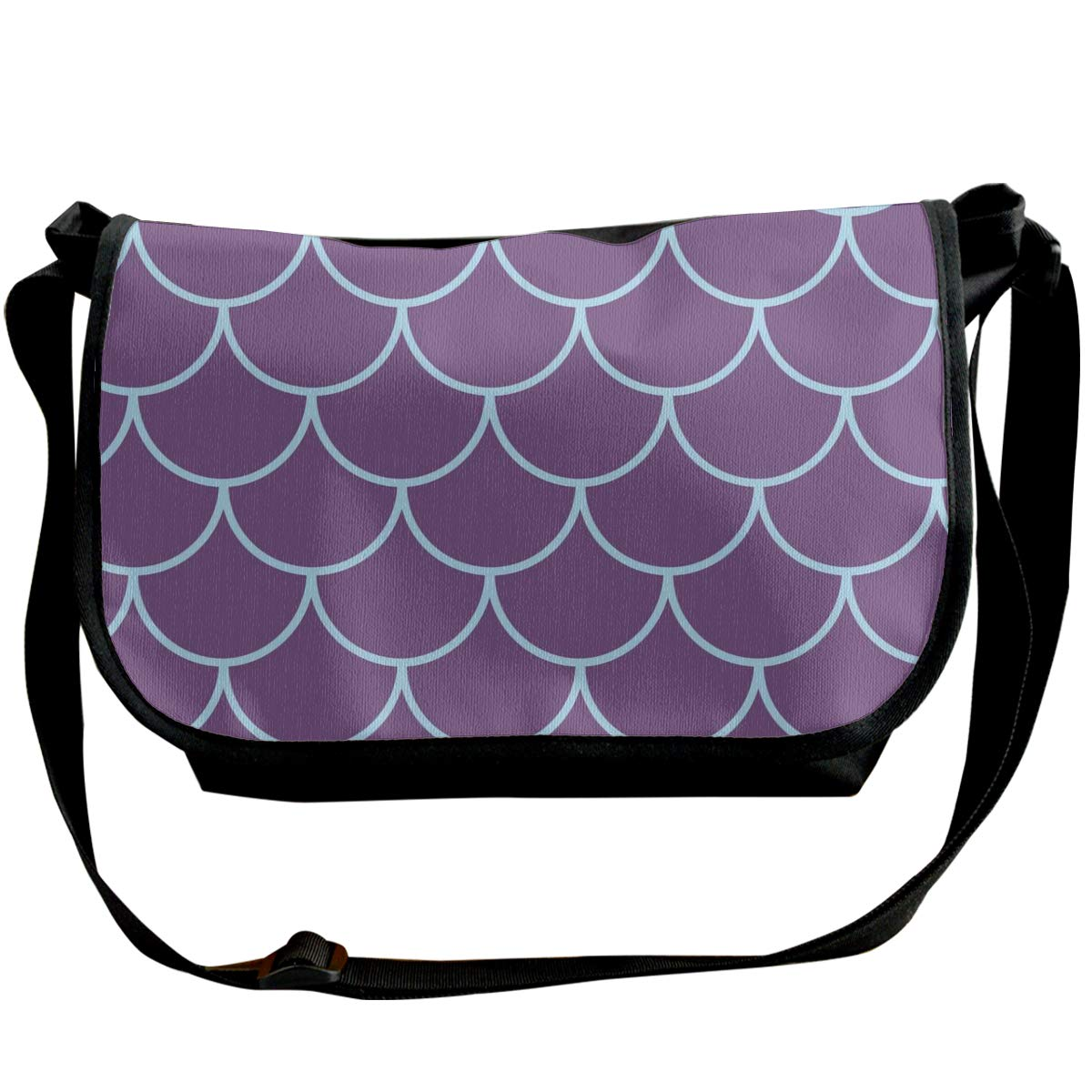 Taslilye Girl Mermaid Seamless Pattern Vector Image Customized Wide Crossbody Shoulder Bag For Men And Women For Daily Work Or Travel