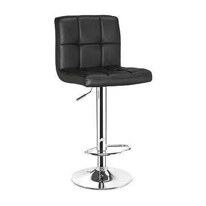 Astonishing Lavin Lifestyle Faux Leather Kitchen Breakfast Bar Stool In Black Sw31 Machost Co Dining Chair Design Ideas Machostcouk