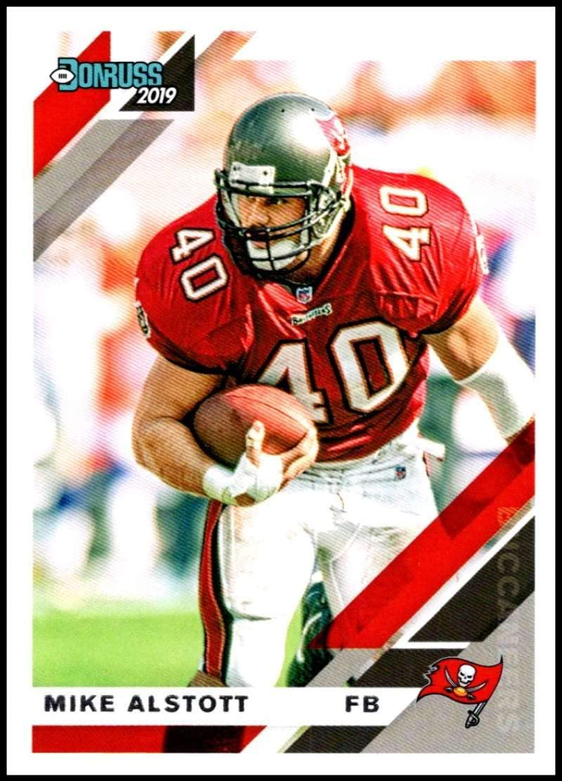 amazon com 2019 donruss 242 mike alstott tampa bay buccaneers nfl football trading card collectibles fine art 2019 donruss 242 mike alstott tampa bay buccaneers nfl football trading card