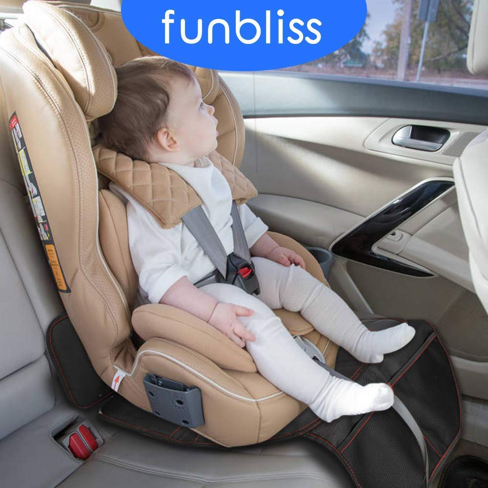 Baby Car Seat Protector Mat Covers Under Child Kid PU Leather Baby Seat C