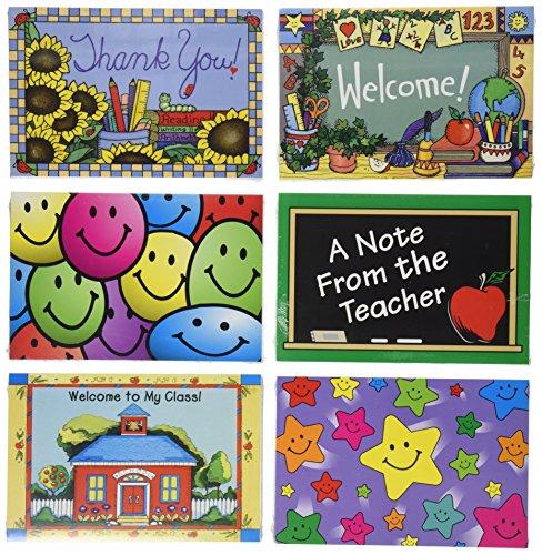 School Smart 68248 School Year Postcards - Pack of 180 - Assorted Designs by School Smart