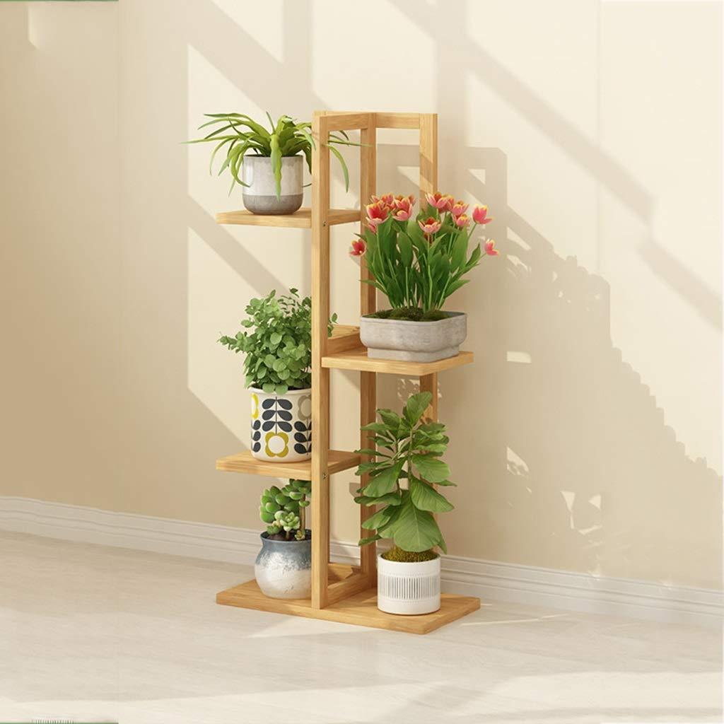 Bamboo Flower Stand Piano Rack Rack Multi-Strato Balcone Coperto Decorazione Pot Rack Scaffale vegetale 40 × 20 × 102 125   145cm (Dimensioni   40  20  102cm)