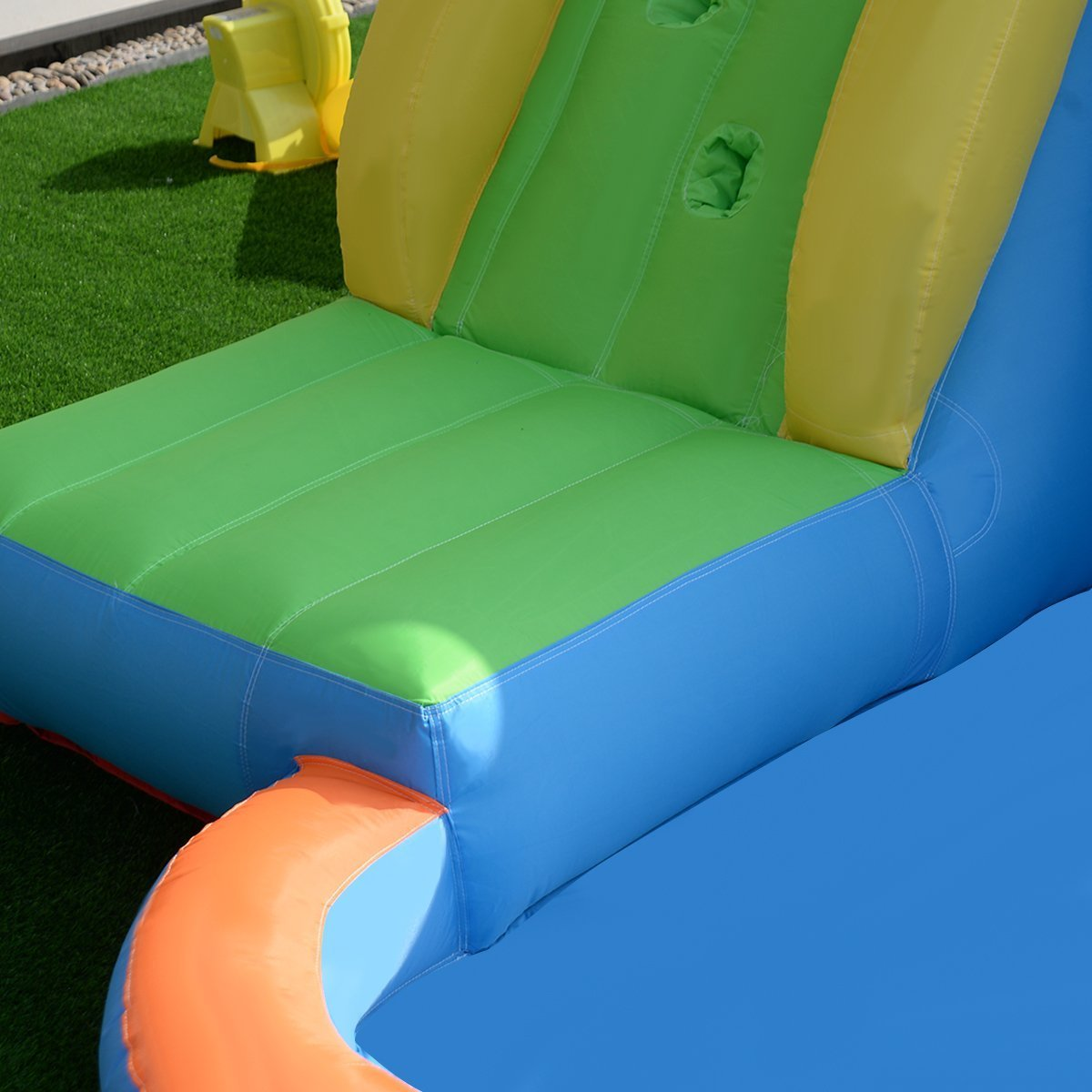 Costzon Inflatable Slide Bouncer, Water Pool Slide Climber Castle Bounce House (Without Blower)