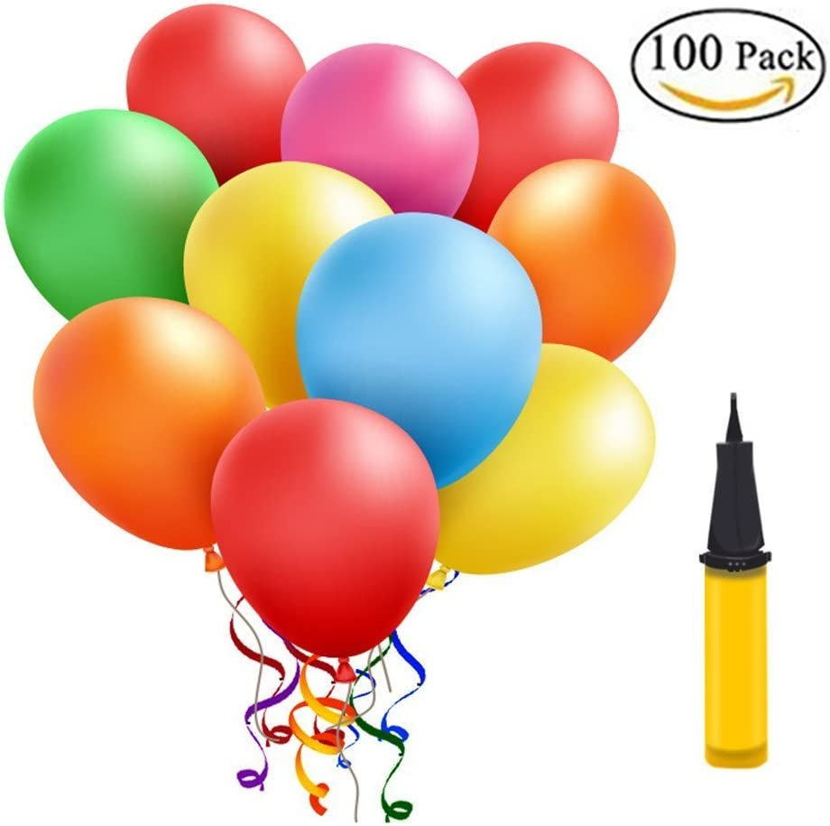 Luftballonpumpe Ballonpumpe 100Ballons Luftballon Handpumpe Kindergeburtstag