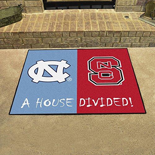 (House Divided - North Carolina Tar Heels and North Carolina State Wolfpack Rivalry Rug)