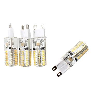 SODIAL(R) 4 x G9 3W 64 LED 3014 SMD Lampara Bombilla 3000K Luz Blanco Calido: Amazon.es: Hogar