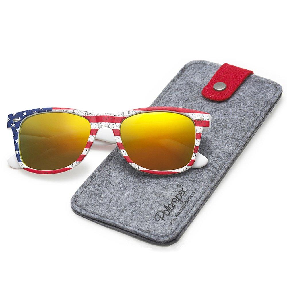 c50ed4d19 Amazon.com: Polarspex Polarized 80's Retro Classic Trendy Stylish Sunglasses  for Men Women: Clothing
