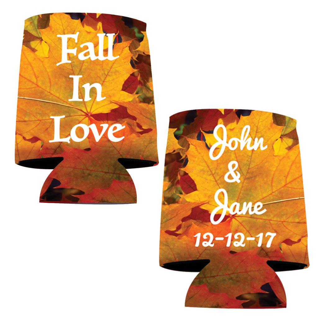 Personalized Wedding Can Cooler- Fall In Love (100)