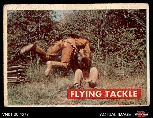 (1956 Topps Davy Crockett Green Back # 37 Flying Tackle (Card) Dean's Cards 1 - POOR 3393511 )