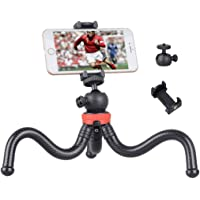 Soloflix Gorillapod 12 Inch Tripod with Flexible Stand , Octopus Camera Tripod Bundle with 360 Degree Detachable Ball Head and Mobile Phone Holder for Mobile Phones and Camera , DSLR and GoPro