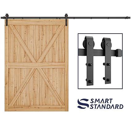 Smartstandard 10ft Heavy Duty Sturdy Sliding Barn Door Hardware Kit