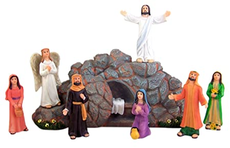 Religious easter gift eight 8 piece resin figurine resurrection of religious easter gift eight 8 piece resin figurine resurrection of jesus christ home school negle Gallery
