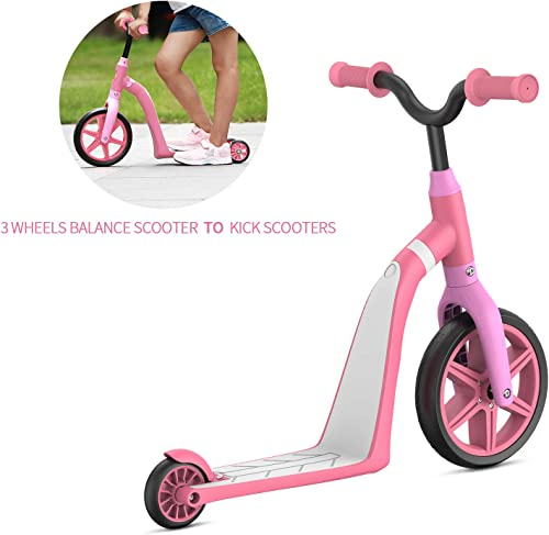 MACWHEEL Kick Scooter, 2-in-1 Kick Scooter with Folding Removable Seat, Three-Wheeled Scooters Kick Scooter for Kids Ages 2-5
