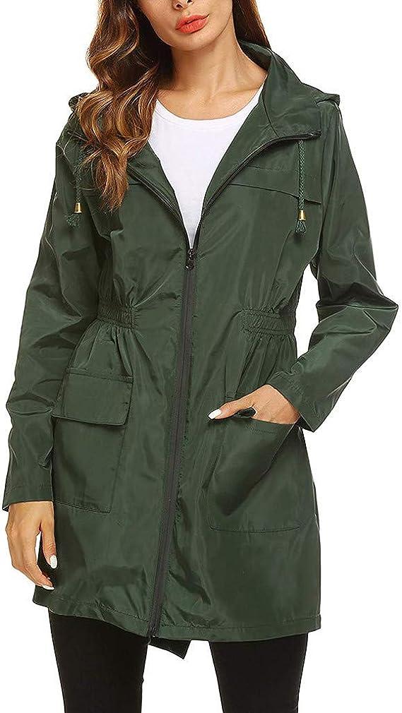 manteau de pluie femme avec capuche kaki