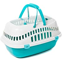 Favorite Top Load Portable Pet Small Animal Carrier Outdoor Short Trip Travel Vet Visit, Blue