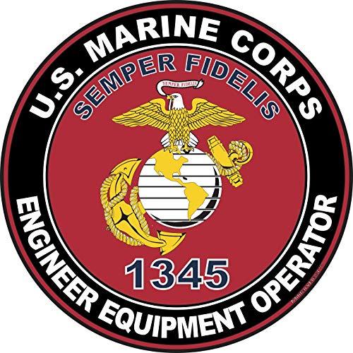 MilitaryBest U.S.M.C. MOS 1345 Engineer Equipment Operator Decal 5.5