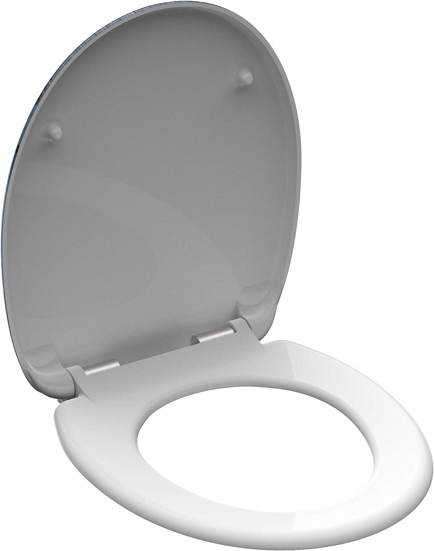 SCH/ÜTTE 82157 Abattant de WC en Duroplast avec syst/ème dabaissement automatique Motif OFFLINE