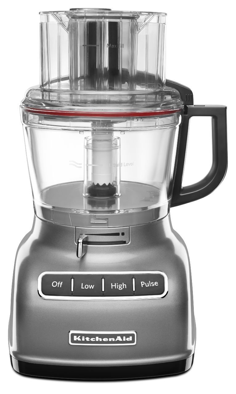KitchenAid KFP0930CU 9-Cup Food Processor with Exact Slice System - Contour Silver