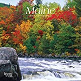 Maine, Wild & Scenic 2019 7 x 7 Inch Monthly Mini Wall Calendar, USA United States of America Northeast State Nature