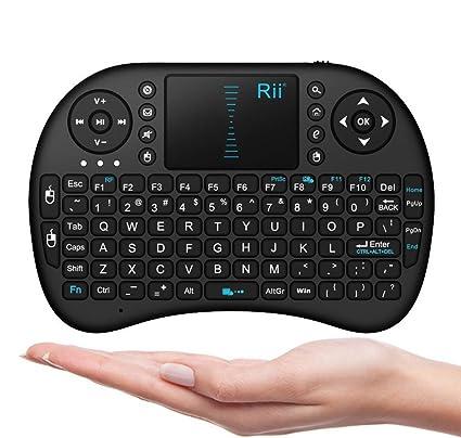 Rii 10038-GBD i8 Mini 2.4GHz Wireless Touchpad Keyboard for PC/Pad/