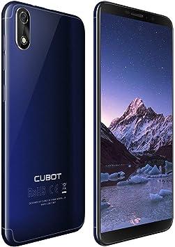 CUBOT J3 Dual SIM Smartphone 12,63 cm (5 Pulgadas) Full-Wide VGA TN Touch Display, 16 GB de Memoria Interna, Android 8.1 Oreo (Go Edition) Teléfono Móvil Cámara de 8MP+5MP,Face ID, GPS/A-GPS (Azul):