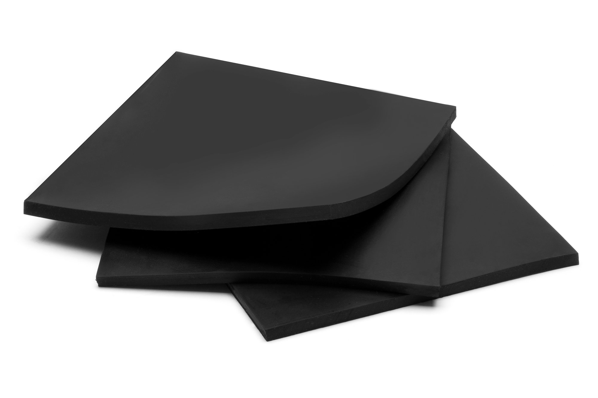 Rubber Sheets, Black, (Pack of 3) 6x6-Inch by 1/4 (+/-5%) High Grade Shore 60A Neoprene, Plumbing, Gaskets DIY Material, Supports, Leveling, Sealing, Bumpers, Protection, Abrasion, Flooring by EverestRubberCompany