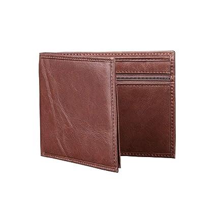 NLJ-YMS Wallet Monedero Plegable De Cuero para Hombres con ...