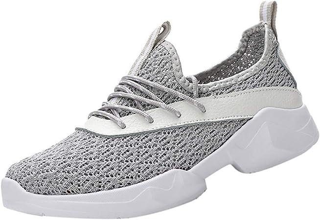 Proumy 💋 Malla Transpirable Zapatillas de Deporte Zapatos para Correr para Mujer Moda Ligero Zapatos Casuales Primavera Verano Pisos de Las Mujeres Cordones Zapatos Planos Casual Zapatos de Mujer: Amazon.es: Hogar