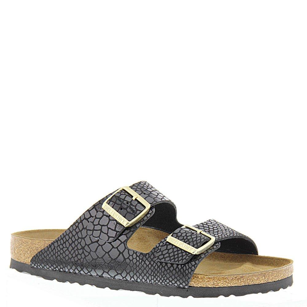 Birkenstock Women's Arizona  Birko-Flo Black-snake Sandals - 37 N EU / 6-6.5 2A(N) US