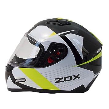 ZOX Galaxy Ray para hombre calle casco de moto – Alta visibilidad amarillo