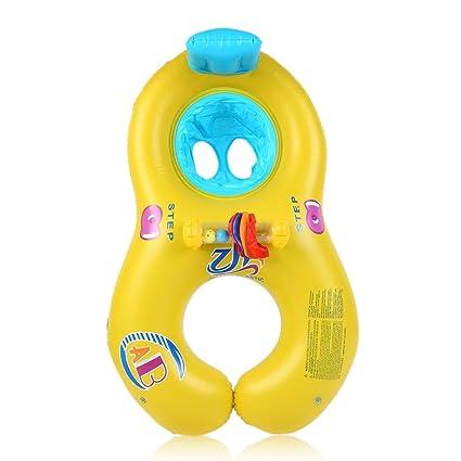 Ballylelly Nuevo Anillo de natación Seguro para bebé baño Cuello Flotador Juego de Nadar de Madre