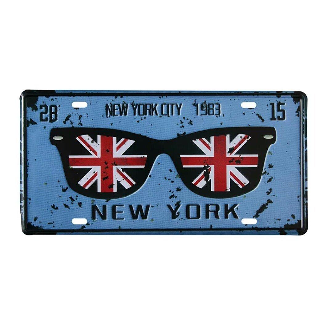 Placa Vintage de 6 x 12 Pulgadas Bar exposici/ón decoraci/ón de Pared Eureya New York City 1983 Placa de Licencia para Auto para casa cafeter/ía Restaurante
