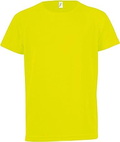 SOLS Camiseta de Deporte de Manga Corta Unisex Modelo Sporty Niños Niñas - Deportes/Gimnasia/Correr