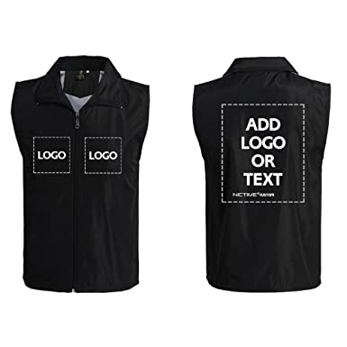 Custom Work Vest Design Your Own Add Logo or Text Printing for Women Men  Unisex ( 6aabf51b7a