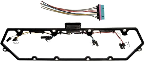 apdty 726312 valve cover gasket kit w/glow plug wiring harness fits select  1998-