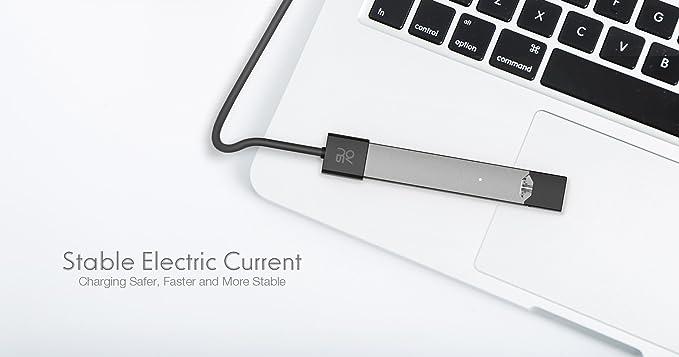 Suvo - Cargador magnético USB JUUL - Cargador rápido, Cable de 2,5 pies de Largo
