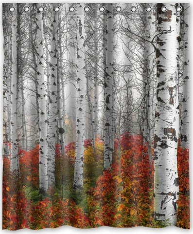Amazon 60x72 Inches Birch Tree Shower Curtain New Waterproof