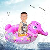2016 Free Shipping New Elephant Shape Baby Child Kids Inflatable Floating Swimming Pool Raft Chair Seat Float Swim Ring Wholesale for Boys Girls with 0-4 years