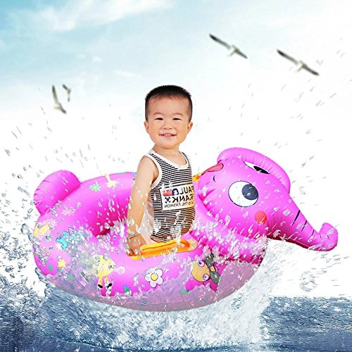 2016 New Elephant Shape Baby Child Kids Inflatable Floating Swimming Pool Raft Chair Seat Float Swim Ring Wholesale for Boys Girls with 0-4 - Shape My Whats Head