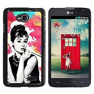 For LG Optimus L70 / LS620 / D325 / MS323 Case , Cinema Movies Retro Vintage Star - Diseño Patrón Teléfono Caso Cubierta Case Bumper Duro Protección Case Cover Funda