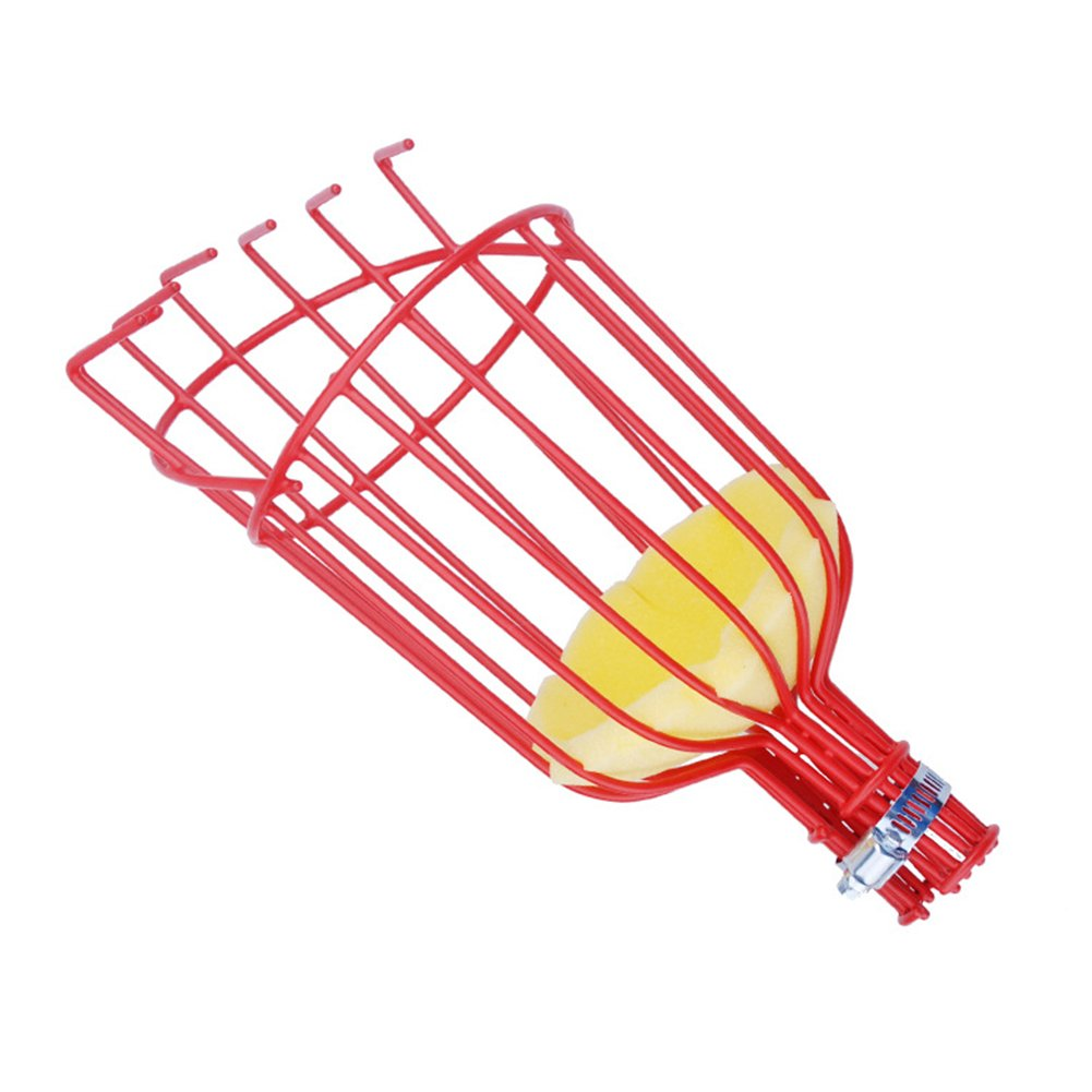 Yvonne Fruit Picker Basket, Outdoor Aluminum Deep Basket Convenient Fruit Picker Gardening Picking Tool for Fruit Harvesting