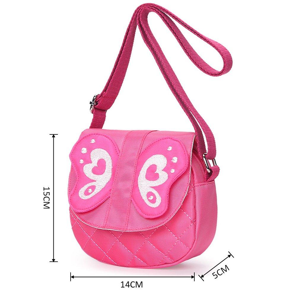 6164fe478 Amazon.com : Kids Shoulder Bag Crossbody Purse Butterfly Mini Cartoon  Animal Preschool Messenger Handbag for Children Toddler Baby Girls  (Butterfly Pink) : ...