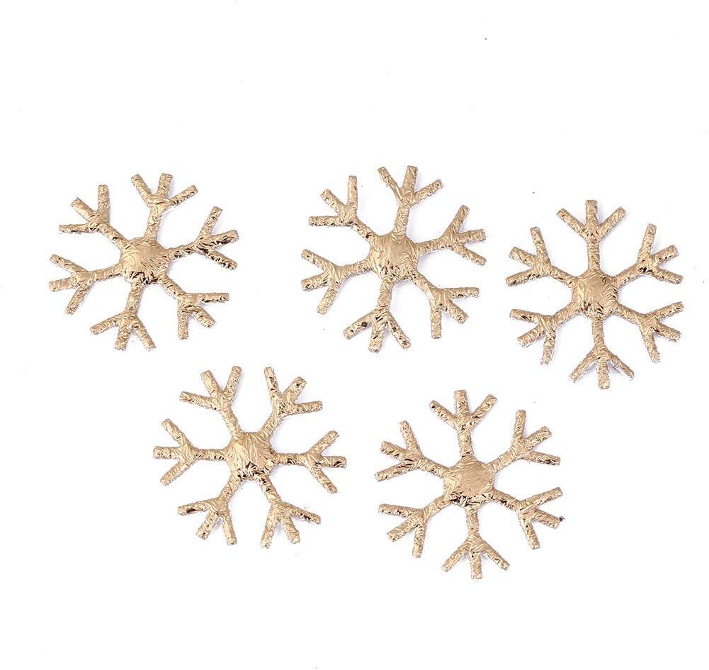 Prosperveil 200PCS 23mm Christmas Snowflake Table Confetti Glitter Silver Snowflakes Decorations Confetti Sprinkles Scatter Christmas Party Decorations Supplies