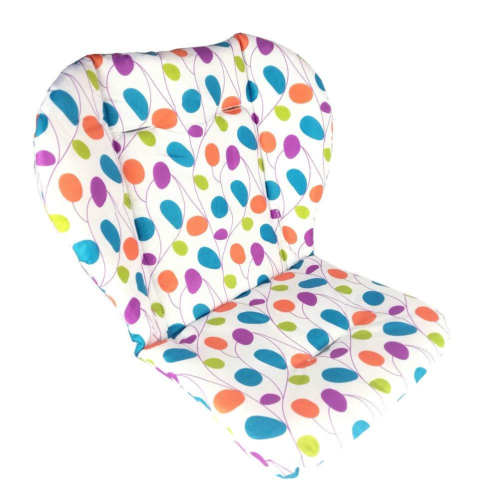 Amcho Cochecito de beb/é//Trona Hojas de colores Coj/ín del asiento de coche Pel/ícula protectora Almohadilla de la silla alta transpirable Coj/ín de la silla alta