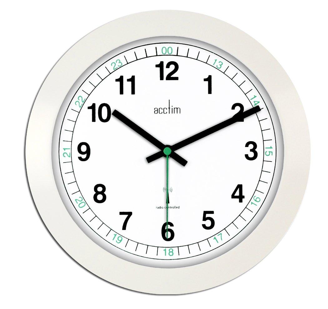 Acctim 93723rc milan radio controlled wall clock white amazon acctim 93723rc milan radio controlled wall clock white amazon kitchen home amipublicfo Choice Image