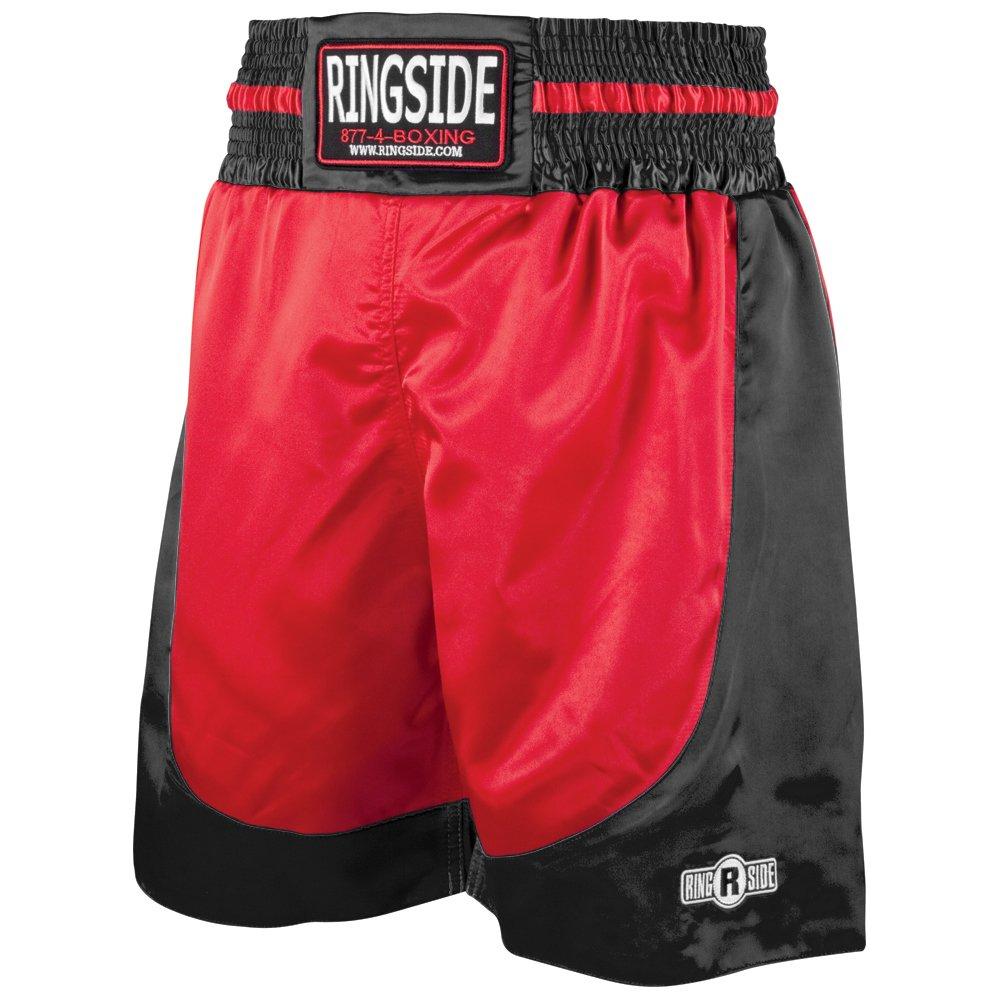 (リングサイド) Ringsideプロスタイル ショーツ キックボクシング ムエタイ 総合格闘技 トレーニングジム用衣類 ボクシングトランクス B006CV3YX6 レッド/ブラック Small